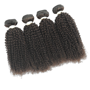 Vvwig Unprocessed Hair Super Soft Natural Hair Color Kinky Curly 100% Human Hair 4 Bundles With Closure