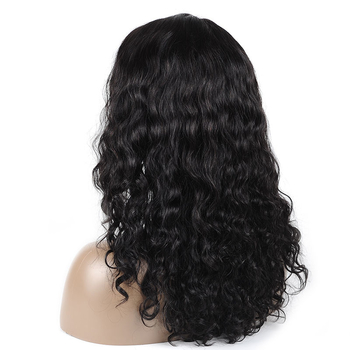 Vvwig Breathable 1B Hair Color Pre Made Glueless Natual Wave Wigs Realistic Human Hair Lace Front Wigs