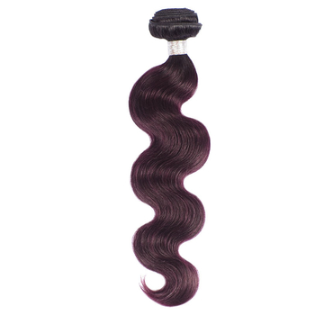Vvwig 1B Grape Purple Shedding Free Brazilian Body Wave Bundles Virgin Hair Extensions 1 Bundle
