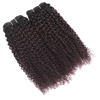 Vvwig Healthy 1B 135 Ombre Hair Indian No Smell Soft Smooth Kinky Curly Hair 3 Bundles With Closure