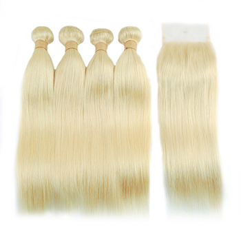 Vvwig Soft Smooth Good Feeling 613 Indian Straight Hair 4 Bundles With Closure 4*4 Inch Lace Soft And Easy To Style