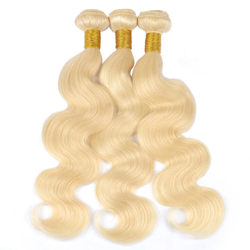 Vvwig Premium 613 Human Hair Weave Good Feeling Body Wave Hair 3 Bundles With Closure 4*4 Inch Lace Tangle Free