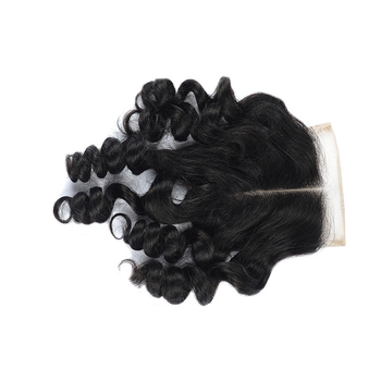 Vvwig Breathable Natural Color 4*4 Inch Good Lace Closure Brazilian Human Hair Loose Wave Closure