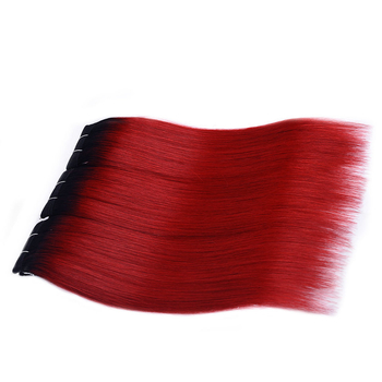 Vvwig 1B Red Ombre Color Unprocessed Hair Straight Bundles Indian Weave Hair 3 Bundles Shedding Free