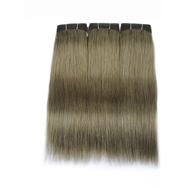 Vvwig Linen Green 3 Bundles No Split Ends Indian Virgin Human Hair Extensions Glossy Straight Bundles