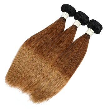 Vvwig 1B 30 Ombre Color No Chemical Healthy Straight Hair Brazilian 3 Bundles With Closure True To Length