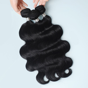 Vvwig Natural Black Or Can Be Customed Body Wave Bundles Indian Virgin Hair Extensions 3 Bundles