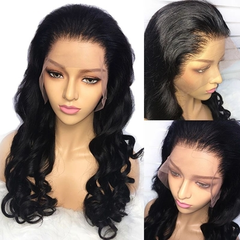 Vvwig Pre Made Glueless Human Hair Lace Front Wigs 150 Density Realistic Loose Wave Hair 13x4 Lace Wig