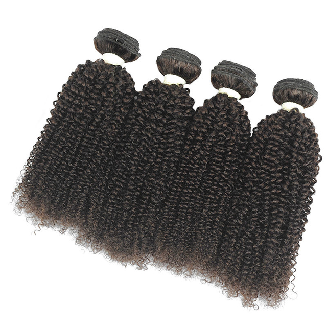 Vvwig #2 Indian Kinky Curly Hair Bundles No Shedding No Tangle Weave Hair 4 Bundles Full And Thick