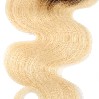 Vvwig Smooth Touch 1B 613 Ombre Color Body Wave Hair Human Hair 4 Bundles With Closure No Smell Or Shedding