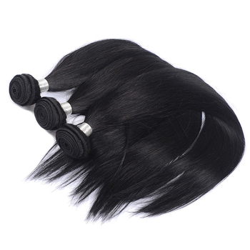 Vvwig Premium Good Feeling Breathable Natural Hair Colors Brazilian Straight Hair 3 Bundles With Closure